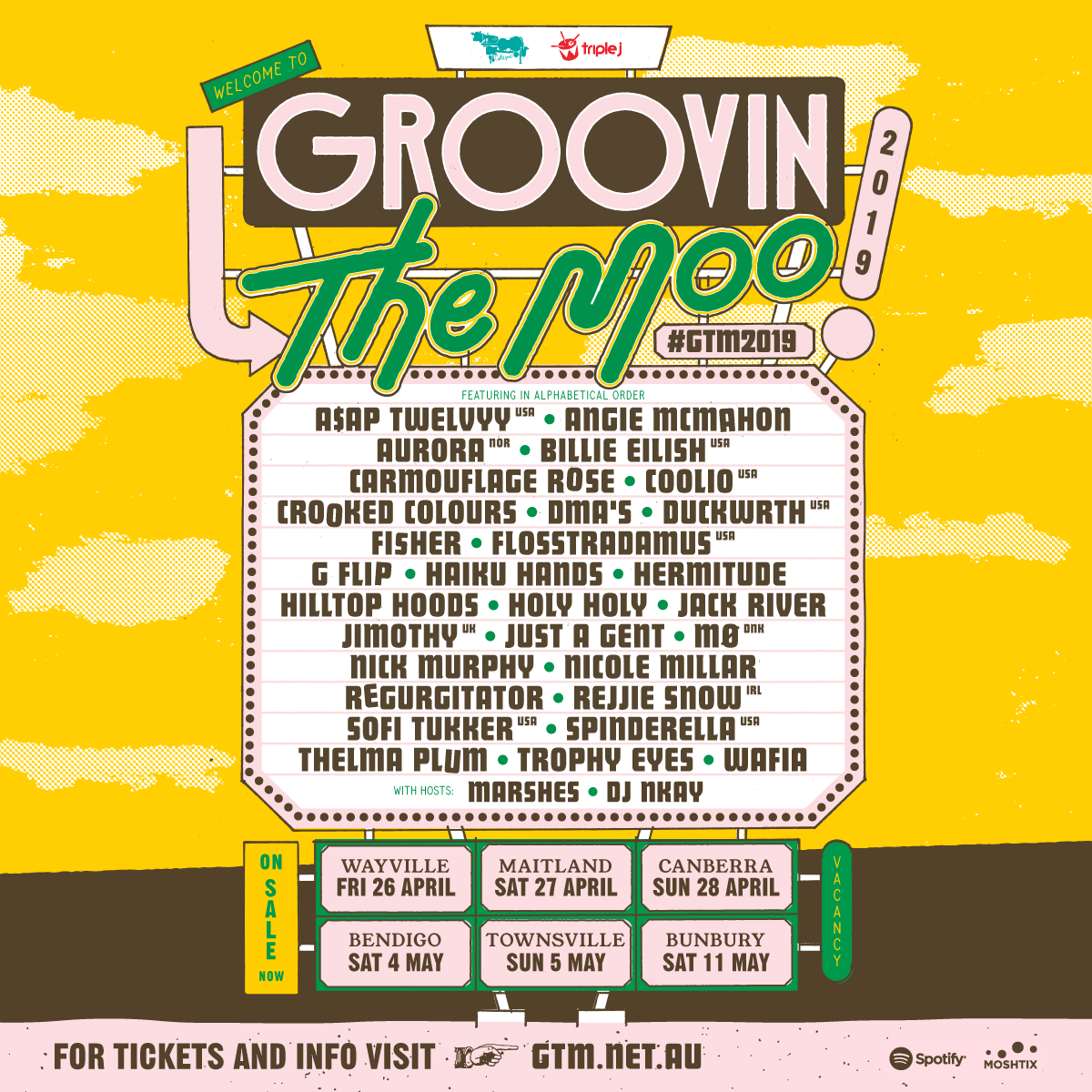GTM 2019 Line Up Artwork
